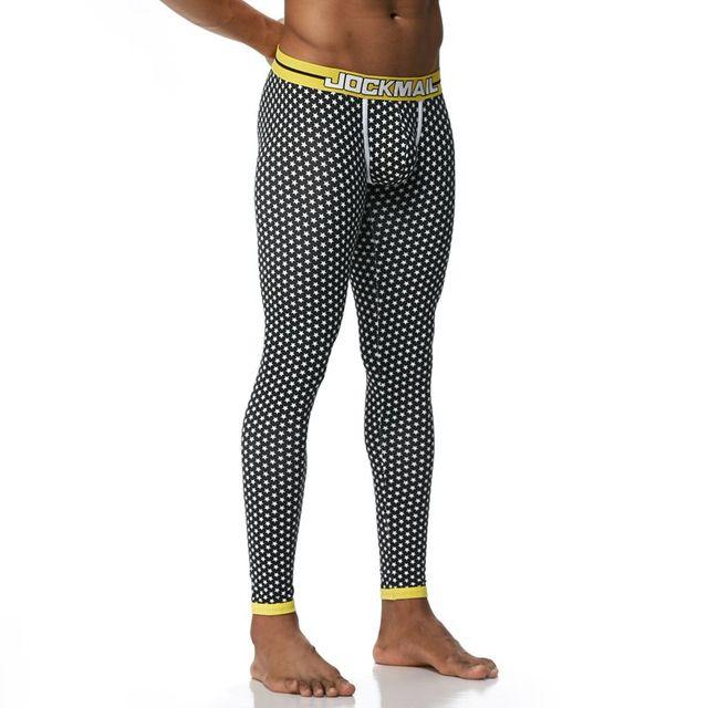 JOCKMAIL Brand Men Long Johns Cotton Printed leggings Thermal Underwear cuecas Gay Men Thermo Underwear Long Johns Underpants