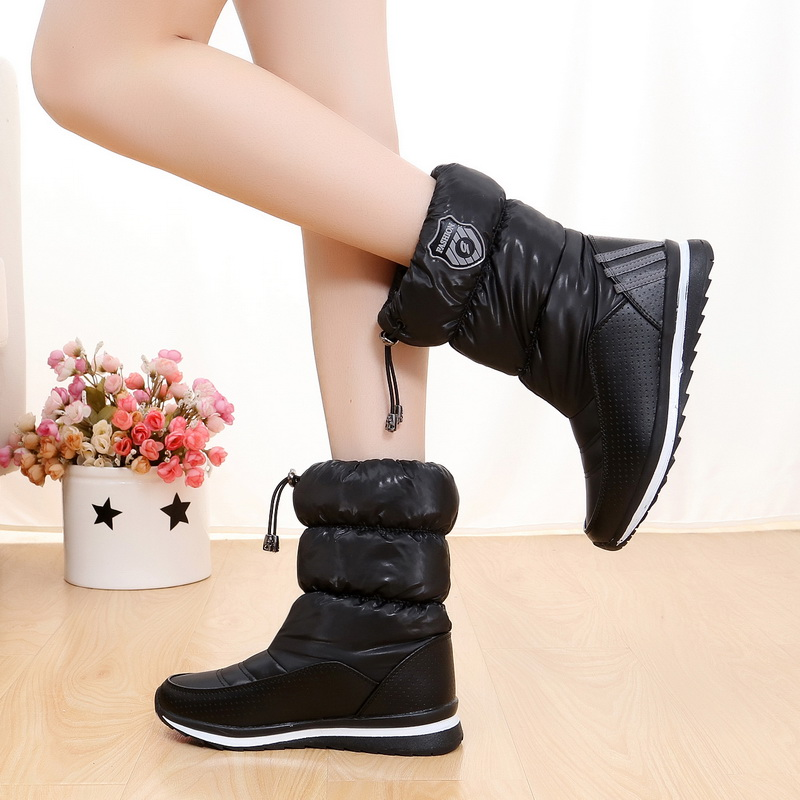 Women snow boots 2017 new arrival warm plush winter shoes women platform shoes waterproof non-slip mid-calf boots hot warm women s winter boots 2017 new outdoor non slip waterproof snow boots mid calf high white women winter shoes botas mujer