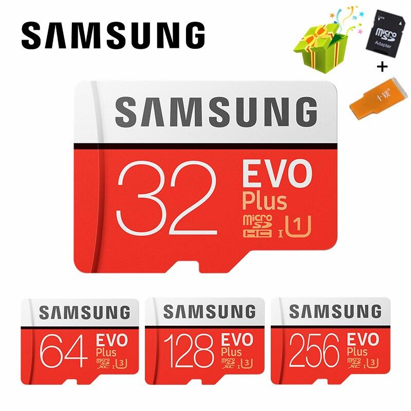 Carte SAMSUNG Microsd 256G 128GB 64GB 32GB 16GB 8GB 100 Mb/s Class10 U3 U1 SDXC Grade EVO + carte mémoire Micro SD carte Flash TF