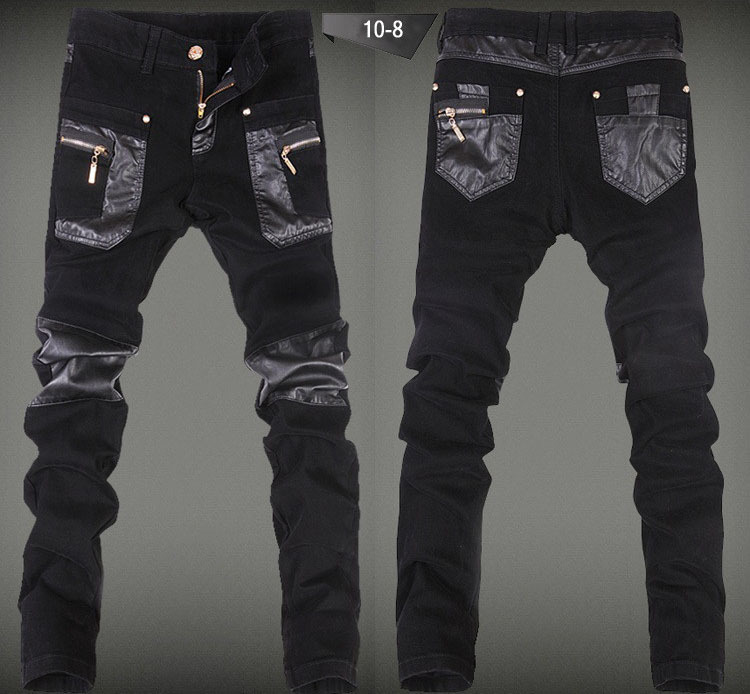 preis auf mens leather jeans vergleichen online shopping. Black Bedroom Furniture Sets. Home Design Ideas