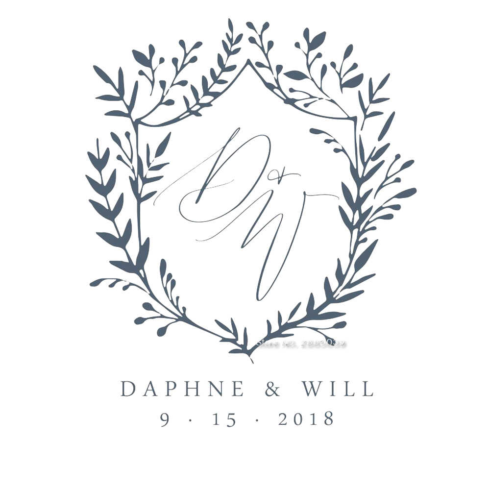 Wedding Monogram Guest Book Decals Honeymoon Journal Decor Stickers Vinyl Letter Flowers Lettering Decal Custom Name Date Lc1253