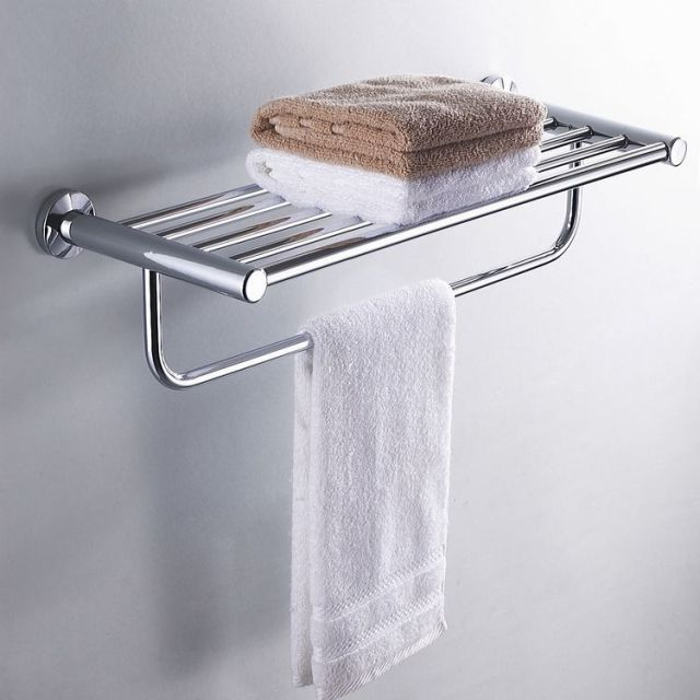 Bathroom Accessories Product Bath Towel Shelf Rack Rail Holder
