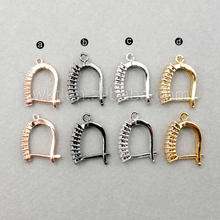 JF003 Fashion Ear Wires Women Jewerly Finding Pave Ear Wires Earring Finding DIY Earring Making ZC Micro Pave Earring Finding