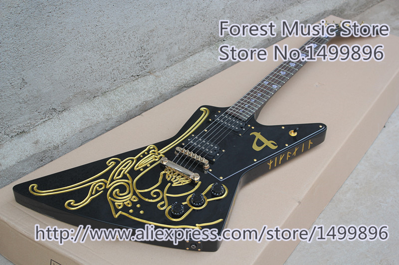 China Karl E.H.Seigfried Signature Electric Guitars With Gold Hardwares As Picture For Sale hot selling randy rhoads signature yellow lp electric guitars with ebony fretboard left handed available