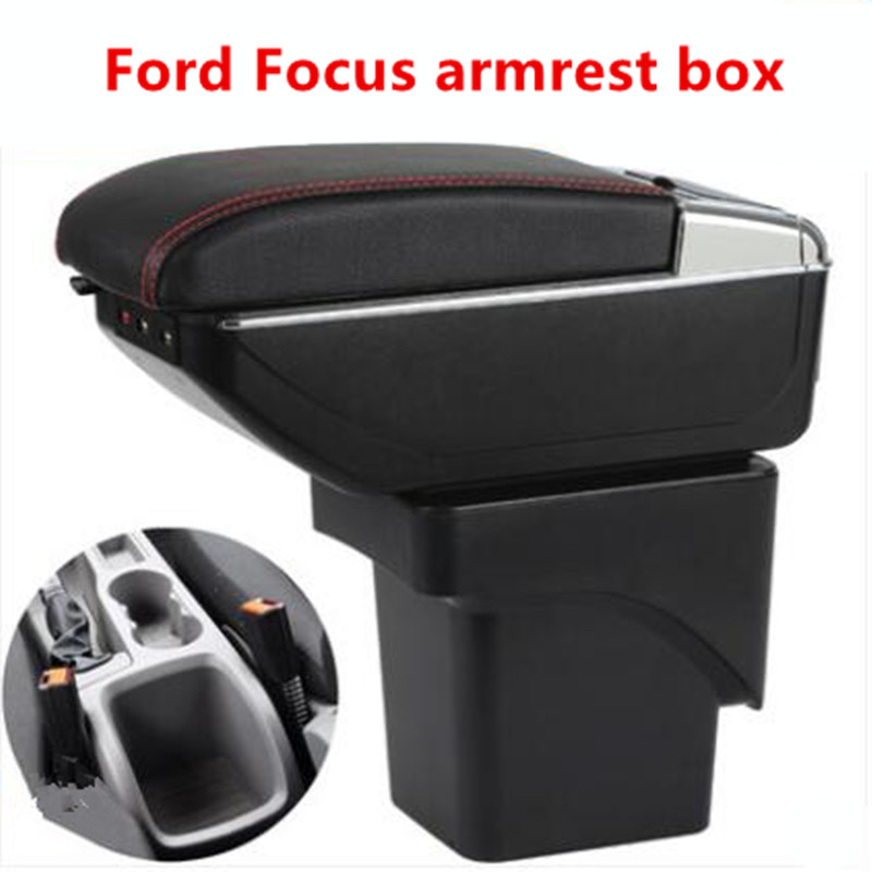 For Ford Focus 2 armrest box central Store mk2 content box products interior Armrest Storage car-styling accessories parts generation armrest box for ford classic focus 2005 2015 central store content box interior armrest storage center console