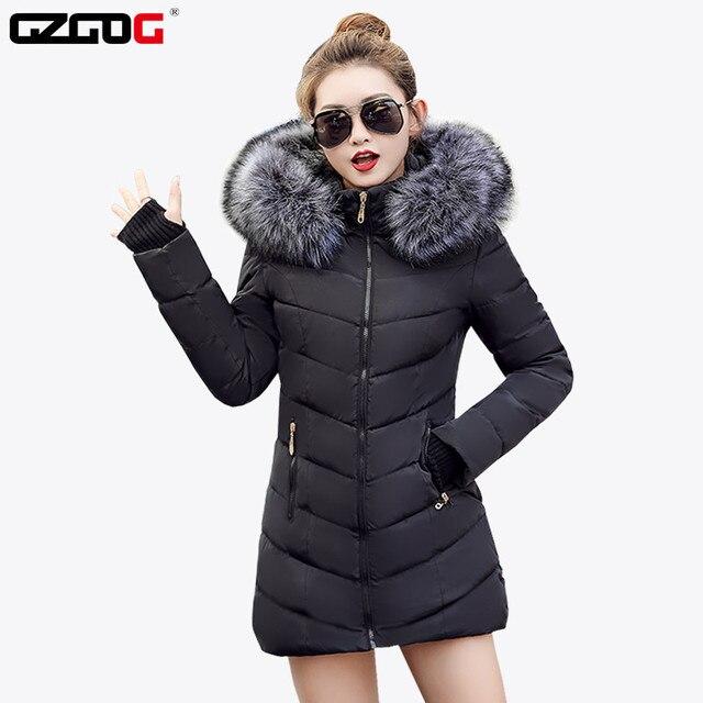 חם! חדש חם סתיו חורף מעיל נשים 2019 אופנה נשים מעיל עבה hoody חורף מעיל slim נשים parka חם נשים למטה מעיל