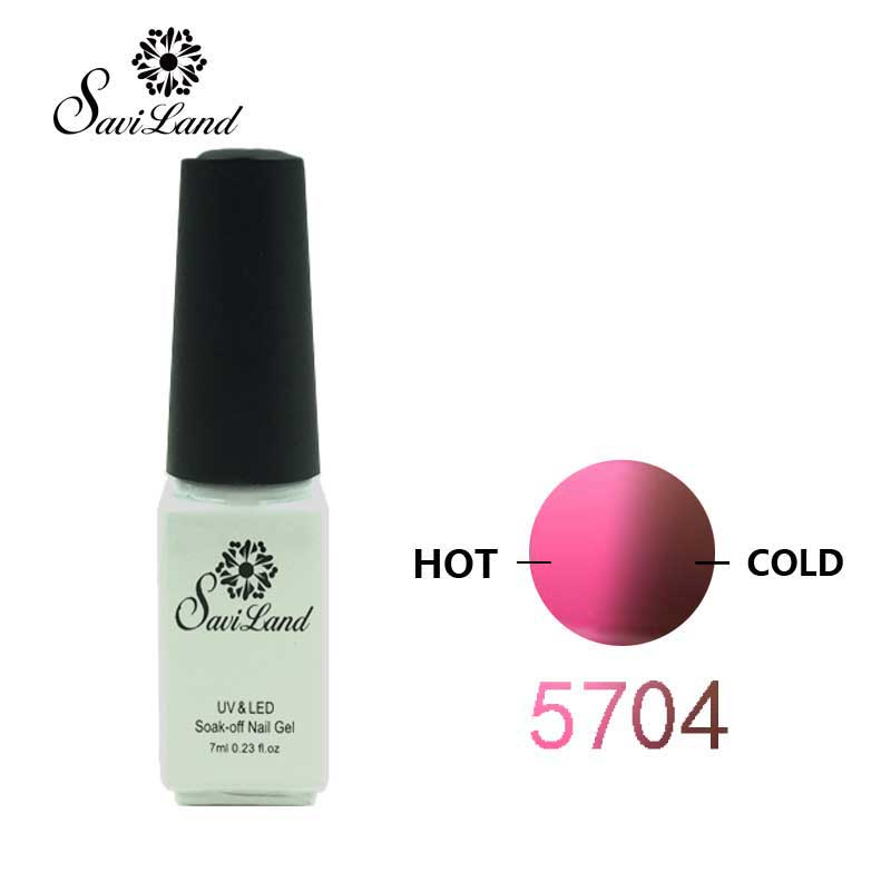 Saviland Mood changing UV Gel Chameleon Temperature Change Color Varnish  Soak Off UV Gel Polish Long Lasting Thermo Nail Gel-in Nail Gel from Beauty  ...