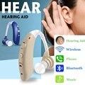 1 шт. перезаряжаемый беспроводной Bluetooth слуховой аппарат BTE усилитель звука цифровой для глухих пожилых слуховой аппарат для пожилых людей с...