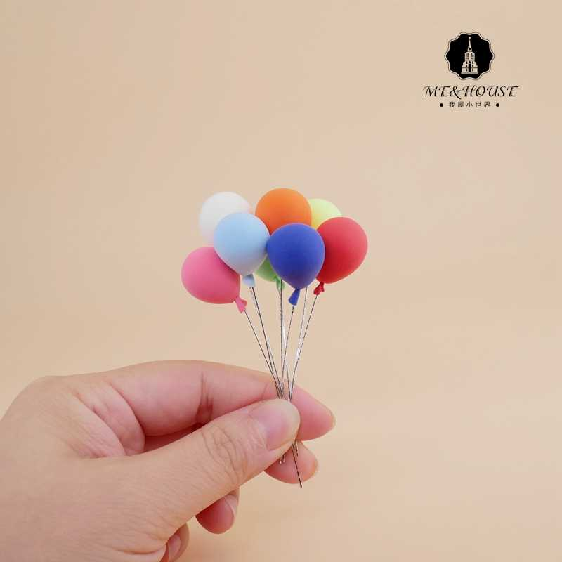 Miniature Dollhouse diy handcrafted clay ornaments colorful balloons children gift 1:12  scale