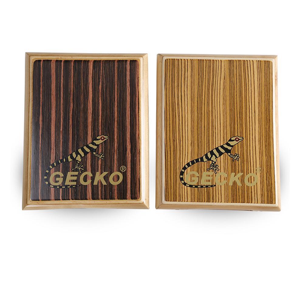 GECKO Cajon tambour voyage boîte compacte tambour en bois main plate tambour Instrument à Percussion avec clé à molette sac de transport