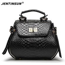 Fashion bags crocodile pattern handbag shoulder diagonal bags leisure Ms. packet classic lock bag messenger bags