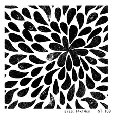 ZhuoAng Solid color flower Clear Stamps/Card Making Holiday decorations For  scrapbooking Transparent stamps 14*14cm