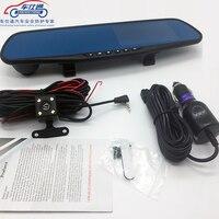 Car DVR Camera Review Mirror Video Recorder Night Vision Dash Cam Parking Monitor Auto Registrar Dual