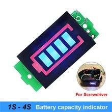 1s 2s 3s 4S модуль индикатора емкости литиевых батарей 4,2 v 8,4 v 12,6 v 16,8 v синий дисплей отвертка для батарей и велосипедов