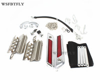 New Latches Cover Hinge Saddlebag Latch Hardware Set Kit For Road King Street Glide All Touring Models 2014 2015 2016