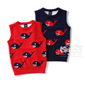 New 2016 spring autumn boys knitted vest sweaters children clothing baby sleeveless vest pullover Knitwear kids whale waistcoat