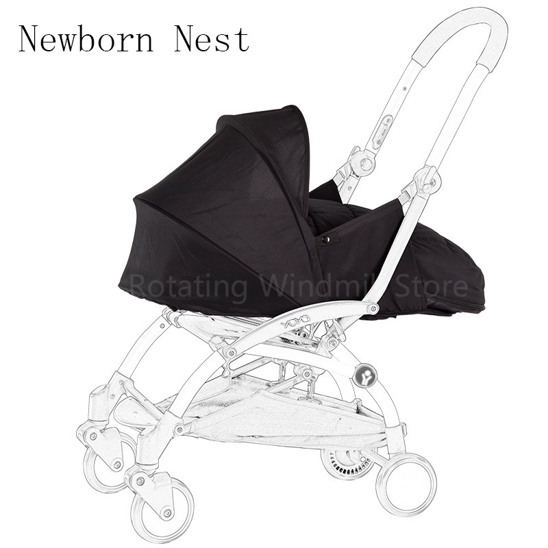 Baby Stroller Birth NB Nest Sleeping Basket Stroller Accessories For Babyyoya Babyzen yoyo+ Yoya Baby throne Stroller Winter Bag накладки для пеленания candide коврик с валиками овальный baby nest 82x52