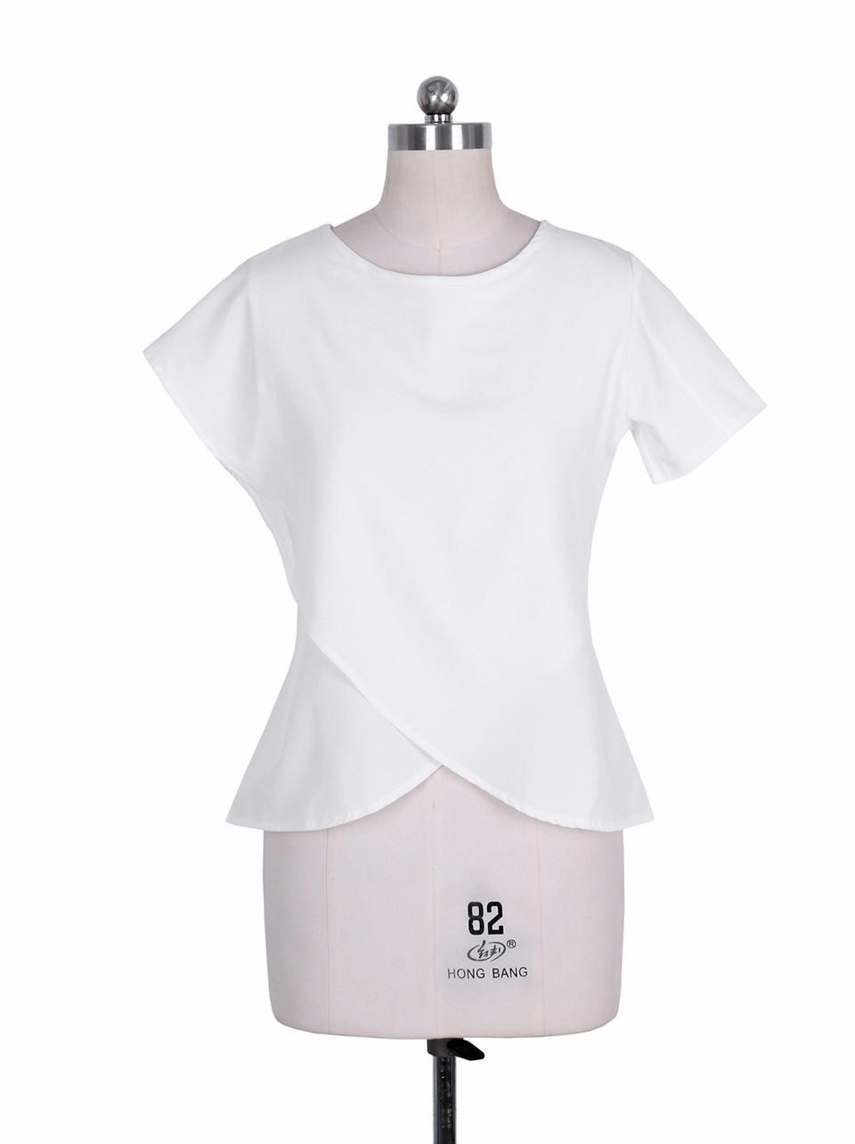 HTB12MqnNpXXXXbXXpXXq6xXFXXXG - Short Sleeve White Chiffon Blouses Womens Clothing Summer