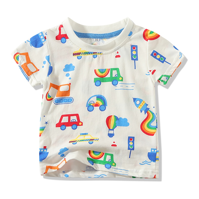 Toddler Baby Boys T Shirt Blouse Tops Short Sleeve Cotton Tops Casual Shirt Tees