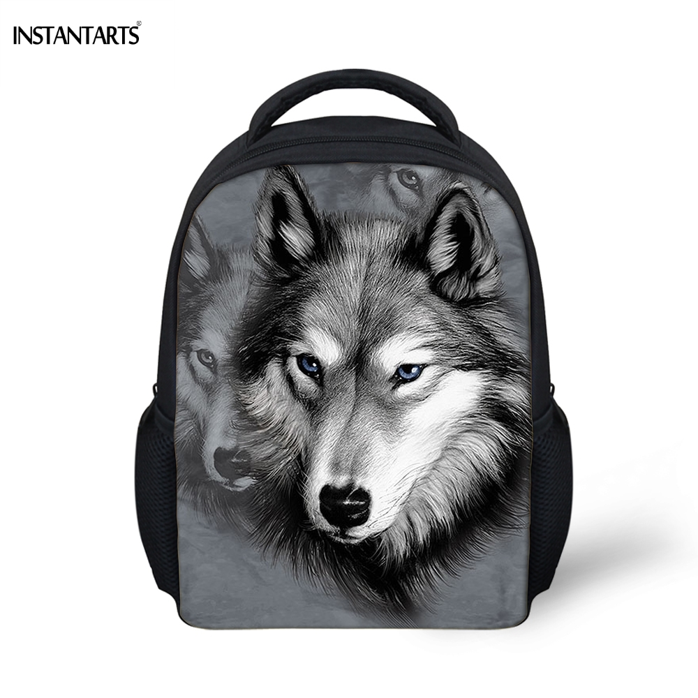 Boys Girls Wholesale Wolf Backpack Schoolbag Lunch Bag Satchel Cross-body Case