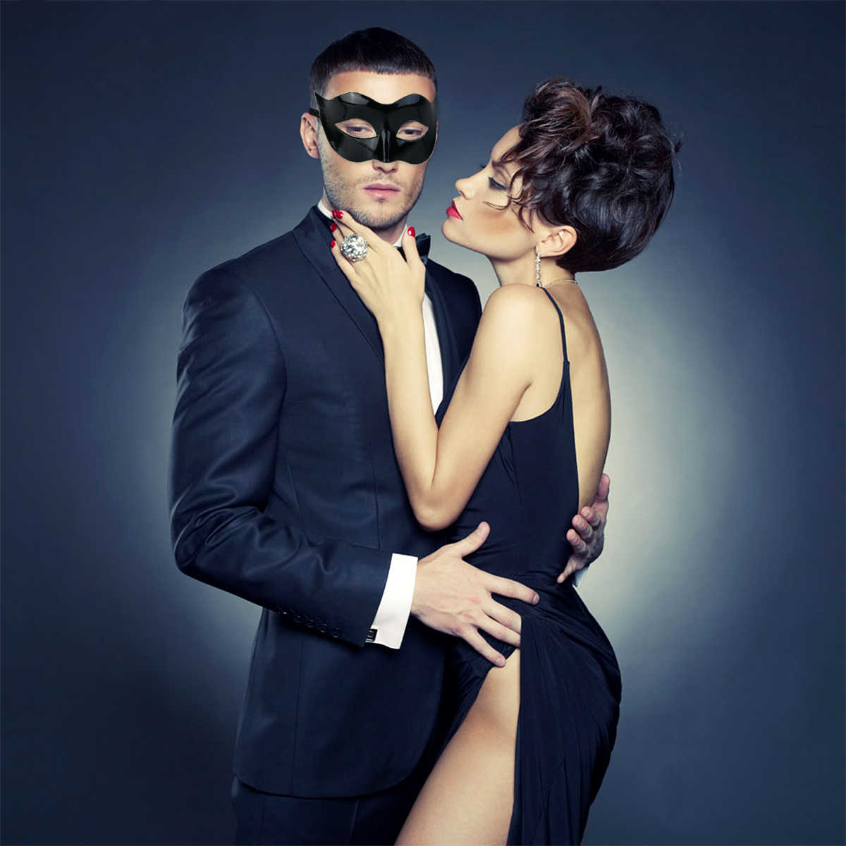 Nice Men Women Masquerade Costume Venetian Ball Mask Ventian Costume Party Eye Mask  Fancy Dress