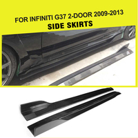 Carbon Fiber / FRP Car Side Skirts Extension for Infiniti G37 2 Door Base Journey Coupe 2009 2013