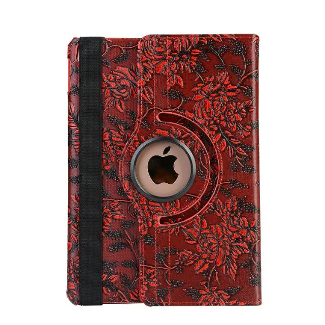 3D Grape Flower 360 Degree Rotating Flip Smart Case For Apple Ipad 2 3 4 Ipad2 Ipad3 Ipad4 9.7 Smart Cover With Film Stylus Pen
