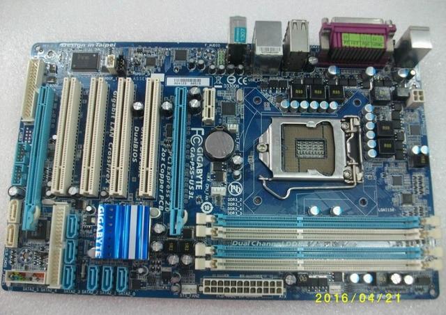 Motherboard original para Gigabyte GA-P55-US3L LGA1156 DDR3 placas P55-US3L USB2.0 SATAIII P55 placa base de Escritorio Envío gratis