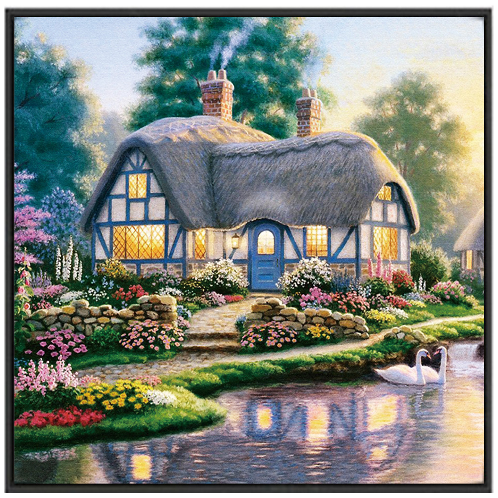 DIY  Scenery Full Drilled Embroidery Square Landscape 5D Cross Stitch Diamond Painting Home Decor