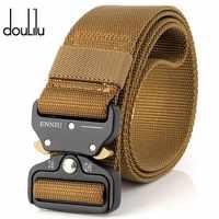 Mens Military Tactical Belt 100% Nylon Girdle Outdoor Multifunctional Training Girdle Combat Belts Sturdy Waistband Wide 3.8CM