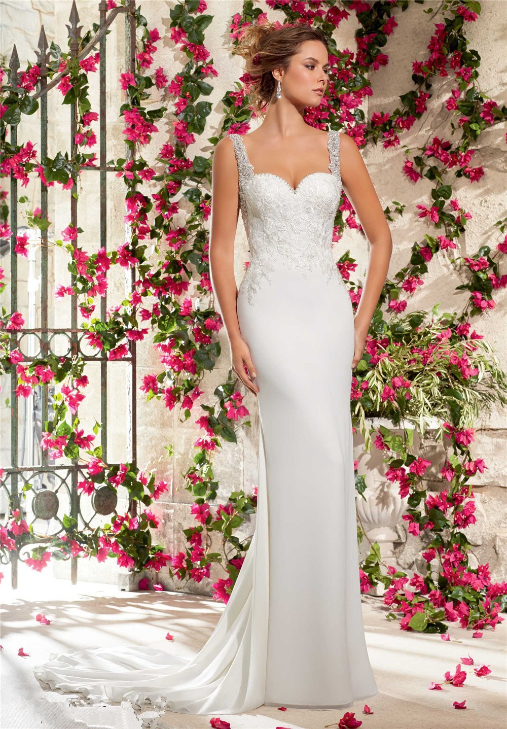 Romantic Lace Wedding Dress 2015 New Fashionable Country Style ...