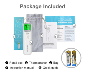 Image 5 - Elera Baby Infrarood Thermometer Digitale Lcd Body Meting Voorhoofd Oor Non contact Kinderen Volwassen Koorts Ir Termometro