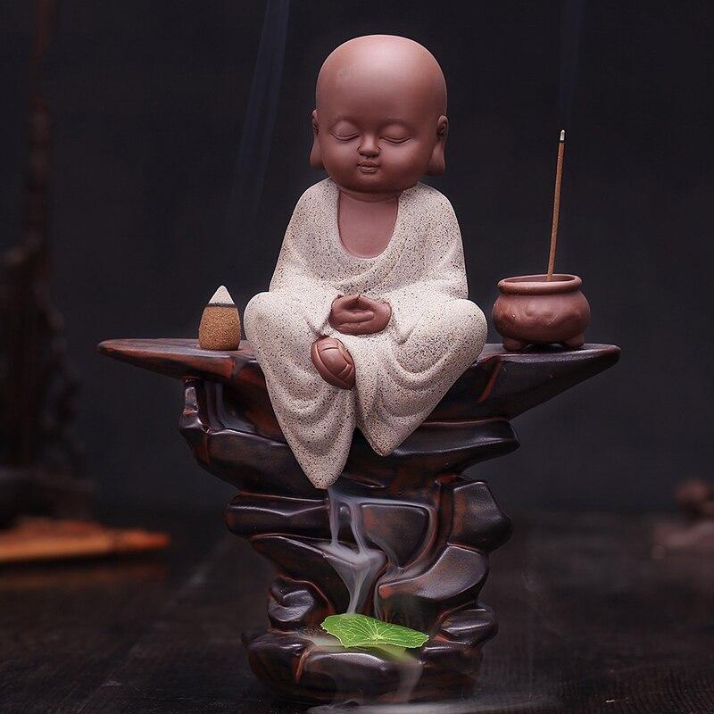 Fartuszek wysokiej jakości duży Bouddha ceramiczne kadzidło palnika ręcznie cofaniu i stojak na kadzidła do dekoracji domu Censer w Kadzidełka i kadzielnice od Dom i ogród na  Grupa 1