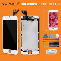 YWEWBJH AAA For IPhone 6 LCD Touch Screen Full Set With Front Camera Digitizer Assembly Replacement