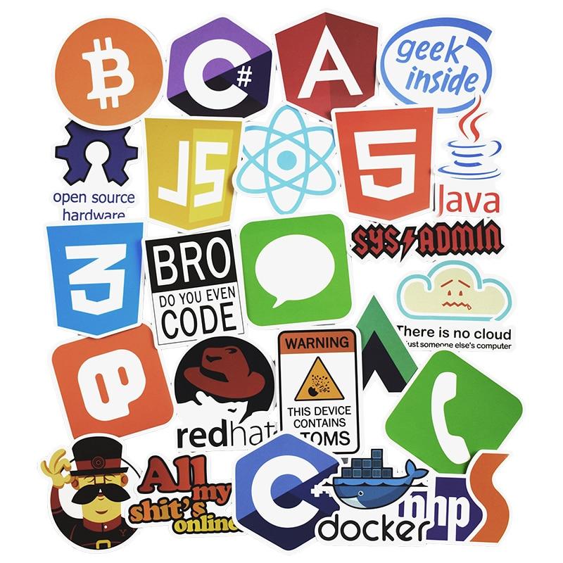 50 ცალი ინტერნეტი Java JS Php Html Cloud - კლასიკური სათამაშოები - ფოტო 2