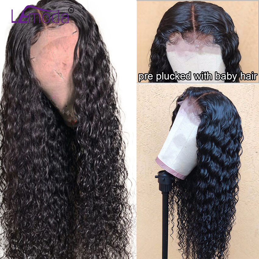 26 Inch Curly Human Hair Wigs Pre Plucked 4x4 Lace Closure Malaysian Hair Wigs For Women