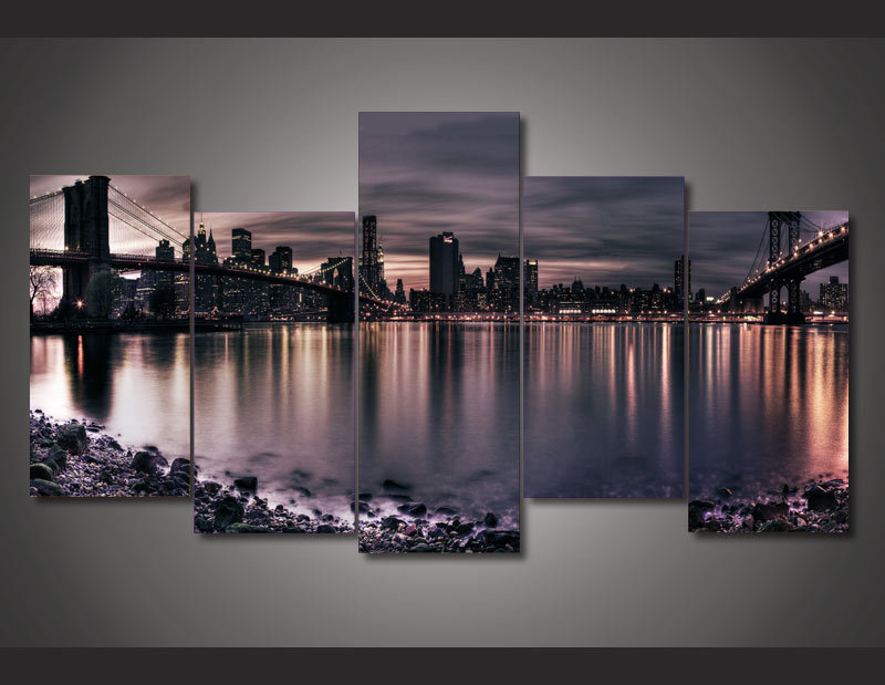 New York City Wall Art online get cheap canvas city night new york bridge -aliexpress