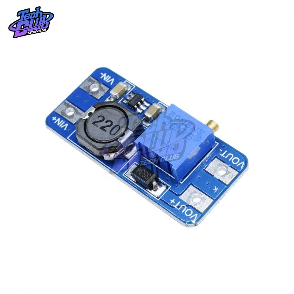 MT3608 DC-DC Step Up Converter Booster Voedingsmodule Boost Step-Up Board MAX Output 28 V 2A voor arduino