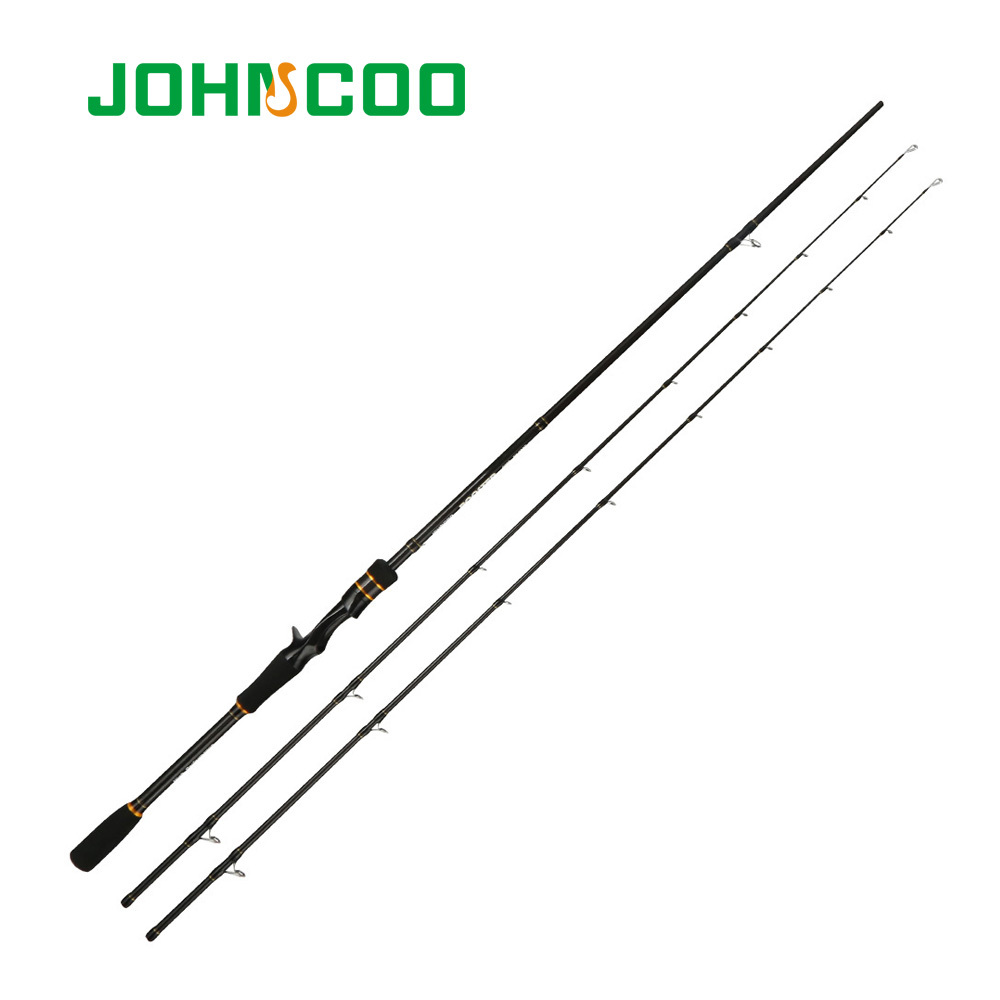 JOHNCOO Carbon Spinning Rod Casting Version Light Jigging Rod 2 Sections Fishing pole Ex-Fast Fishing Rod 2.1m ML M 2 Tips 5-28g цена