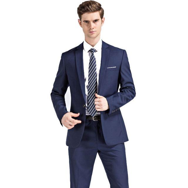 2016 nueva otoño azul marino de la boda trajes de los hombres, chaqueta de los hombres, de los hombres azul marino trajes de negocios, envío envío libre, tamaño M, L, XL, XXL, 3XL, 4XL, 5XL