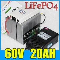60 v 20ah lifepo4 Аккумуляторная батарея для зарядки Ноута и сотового телефона электрический велосипедный скутер 1000 W 1500 W 2000 W Аккумулятор для двиг