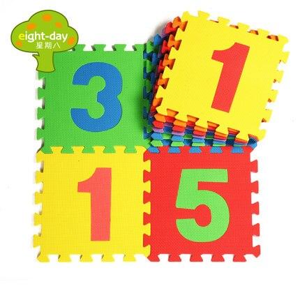 Räkne nummer EVA skum baby leksak pussel spela mat interlocking spel - Leksaker för spädbarn