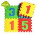 Os Números de contagem Brinquedo Do Miúdo Do Bebê Jogo Ginásio Pad, crianças Rastejando Esteira do Jogo de Puzzle de Espuma Eva 30*30*1 cm 10 Pcs Set