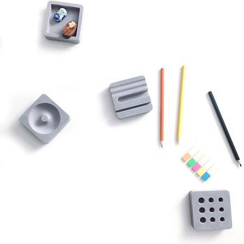 4 sztuk zestaw kreatywny beton biurowe cementu biurko szkolne biurko akcesoria biurowe organizer na biurko zestaw papeterii tanie i dobre opinie Biurko zestawy QKGQK KC139 concrete