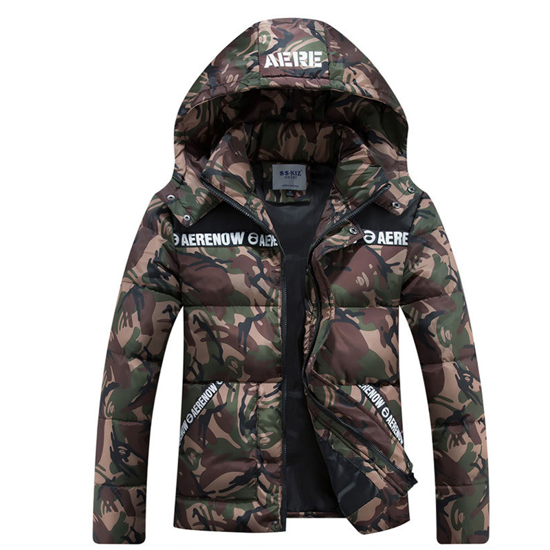 Men plus size 6XL 7XL 8XL   Parkas   Men Military Coats Winter Jacket Men Camouflage Thicken Cotton-padded Coats Warm Male Cloth