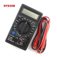 DT830B Mini Multimeter LCD Digital Multimetro For Volt Amp Ohm Tester Meter Voltmeter Ammeter Overload Protection With Probe(China)