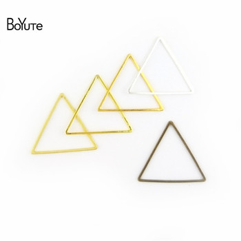 BoYuTe Metal Brass Geometric Triangle Connector Charms 4 Colors DIY Jewelry Findings Components 2