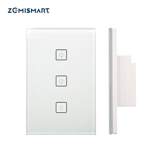 Zigbee US Standard 3 Gangs Smart Light Switch Work with Alexa Google ...