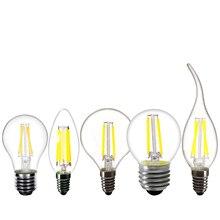 Светодиодная лампа E14 C35 Свеча пламя лампы 2 Вт 4 Вт 6 Вт 8 Вт Затемнения E27 A60 Люстра лампы