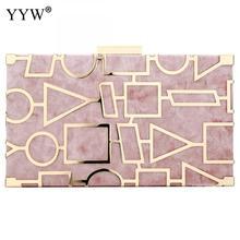 Sac en alliage de Zinc, boîte géométrique, pochette de soirée, chaîne pour téléphone pour femmes, pochette pour femmes